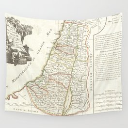 Vintage Map of Israel (1770) Wall Tapestry