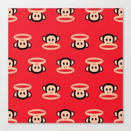 Julius Monkey Pattern by Paul Frank - Red Canvas Print