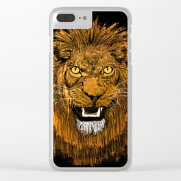 Thunder Lion Clear iPhone Case