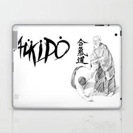 Morihei Ueshiba Laptop & iPad Skin