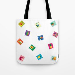 Fruit Stamps Tote Bag