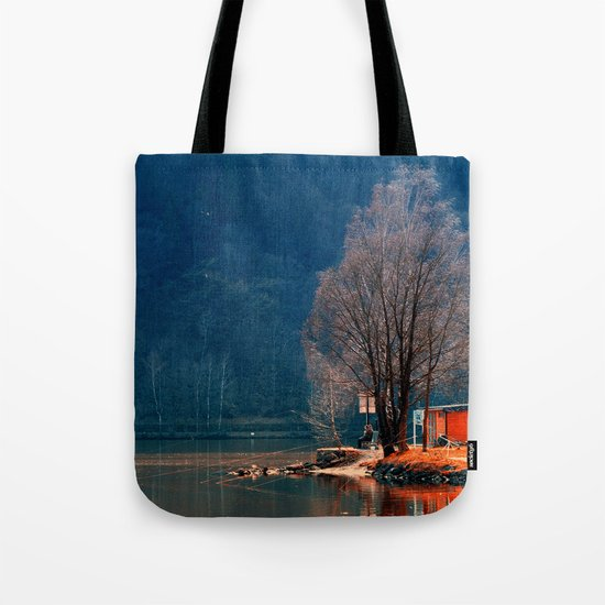 Gone fishing | waterscape photography Tote Bag