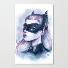 Catwoman Sketch  Canvas Print