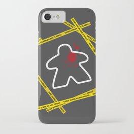 Dead Meeple Crime Scene iPhone Case