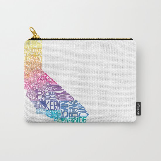 Typographic California - Springtime Carry-All Pouch