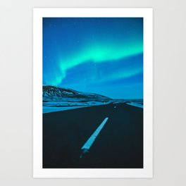 Chasing the light.  |  Iceland Art Print