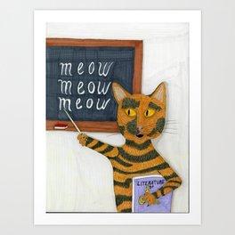 Smarty Cat Art Print