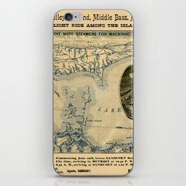 Map Of Lake Erie 1876 iPhone Skin
