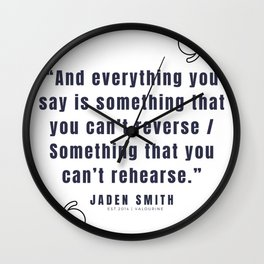 26   |  Jaden Smith Quotes | 190904 Wall Clock
