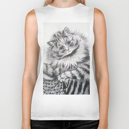 Louis Wain - Cat Portrait Biker Tank