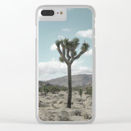 Joshua Tree On A Calm Cool Day Clear iPhone Case