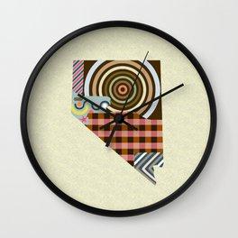 Nevada State Map Wall Clock