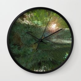Crepe Myrtle In 3-D v.2 Wall Clock