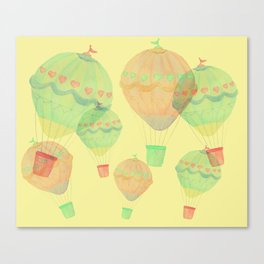 Yellow Balloons Canvas Print