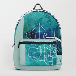 Seattle City Map Backpack