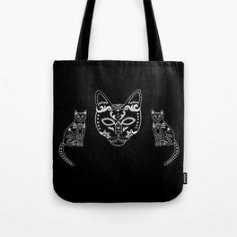 Calavera Cats Tote Bag