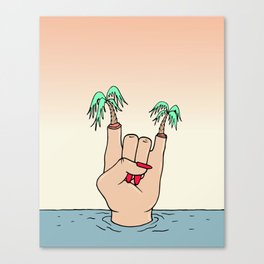 ROCK THE BEACH Canvas Print