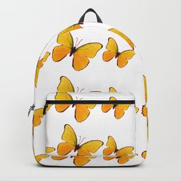 DECORATIVE WHITE  ART OF YELLOW BUTTERFLIES Backpack