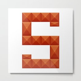 """Letter """"S"""" print in beautiful design Fashion Modern Style Metal Print"""