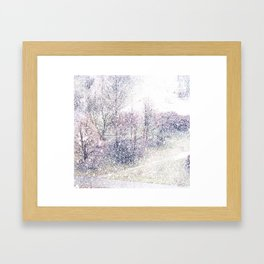 Snow in early fall(2). Framed Art Print