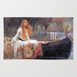 THE LADY OF SHALLOT - WATERHOUSE Rug
