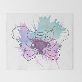 Uterus Splat Throw Blanket