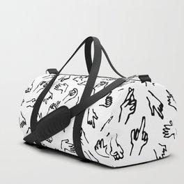 Bad Hands (White) Duffle Bag