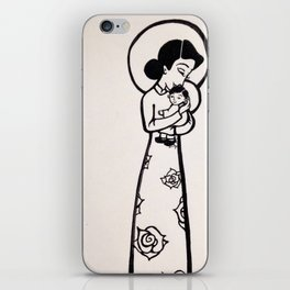 Madonna and Child as Vietnamese (yellowed effect) iPhone Skin