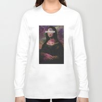 mona lisa Long Sleeve T-shirts featuring Mona Lisa by Alberto Lorenzo