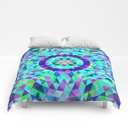 Cool Multicolor Psychedelic Geometrical Spiral Psycho Quilt Comforters