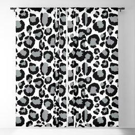 White Black & Light Gray Leopard Print Blackout Curtain