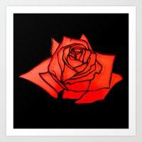 Not Just A Rose Art Print
