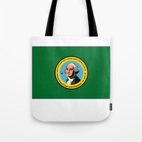 washington Tote Bags featuring WASHINGTON  by Jayrosco