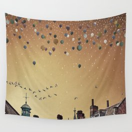Innumerable wandering balloons Wall Tapestry