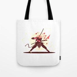 Samurai With Sword Illustration Art Tote Bag