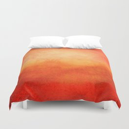 Crimson Dawn Duvet Cover