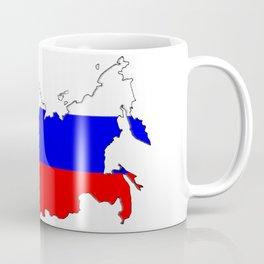 Russia Map with Russian Flag Coffee Mug