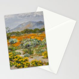 California Poppies and Wildflowers Stationery Cards
