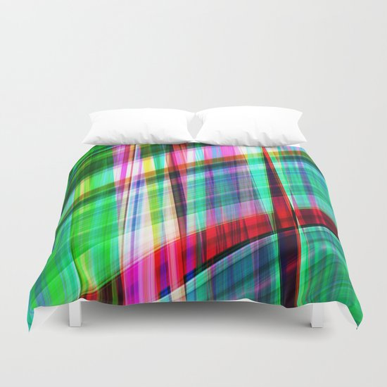 green traffic Duvet Cover