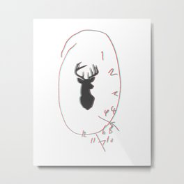 3D Will Graham Clock Metal Print