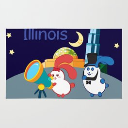 Ernest and Coraline | I love Illinois Rug