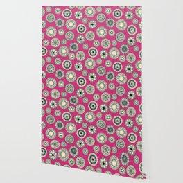 mandala cirque spot pink Wallpaper