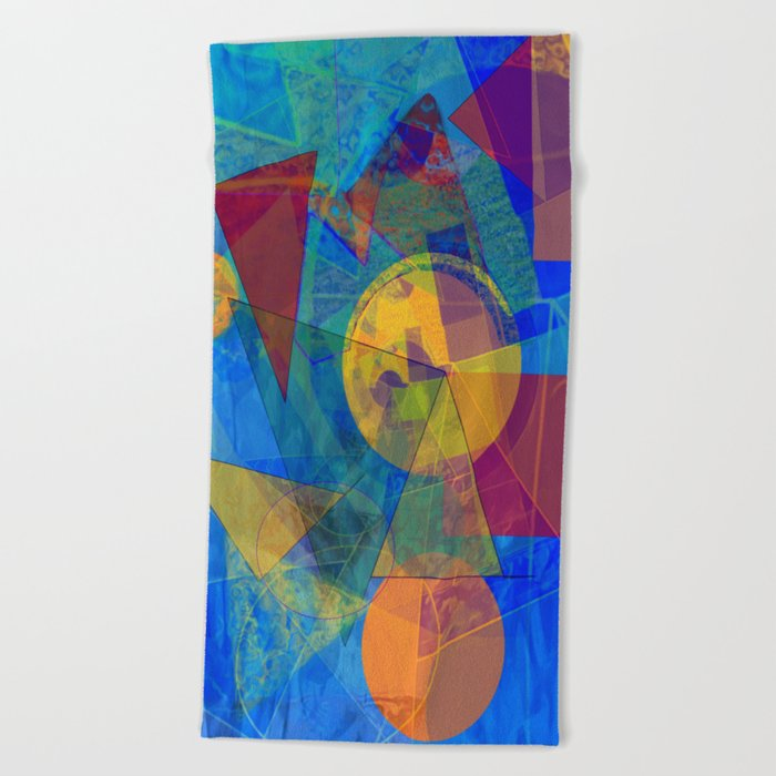 Modern Abstract Beach Towel