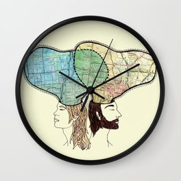 when i dream, i connect the interstates Wall Clock
