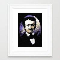 edgar allan poe Framed Art Prints featuring Edgar Allan Poe by Rouble Rust