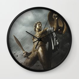 Cry Of Achillies Wall Clock