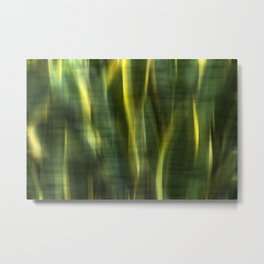 Green Palm Leaves Impression IV Metal Print