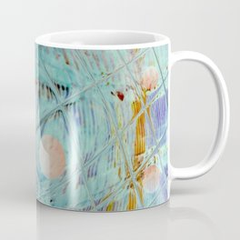 Blue Square and planet Coffee Mug