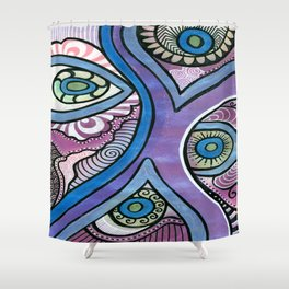 Tangle eyes Shower Curtain