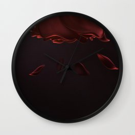 Rosenrot II Wall Clock